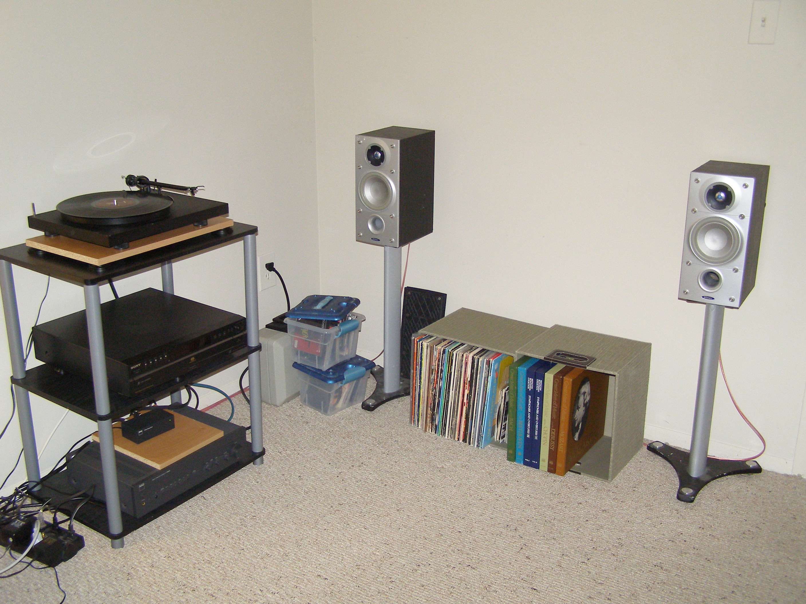 An image of how my hi-fi setup currently looks