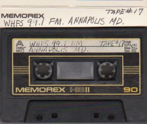 and old cassette tape recording of 99.1 WHFS